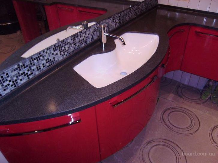 Столешница для ванной комнаты из камня - купить в минске - ф.
